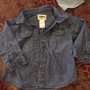 18 month dark denim shirt